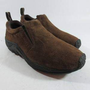 Merrell Jungle Moc Dark Earth Suede Slip On Shoes